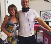 Candy Dulfer in de studio van Paradise FM