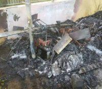 UTS meterkast in Koraal Specht uitgebrand