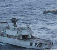 Bemanning Van Speijk redt 9 bemanningsleden brandend schip