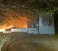 Huis afgebrand aan de Cabo Verdeweg